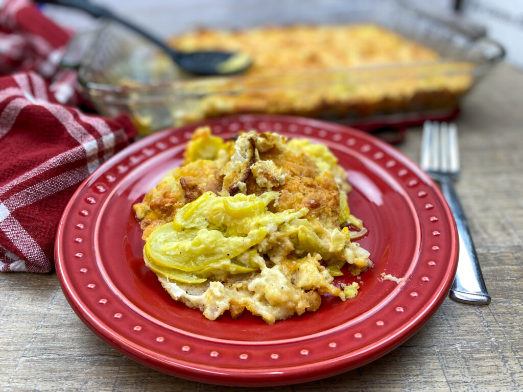 How to make squash casserole.