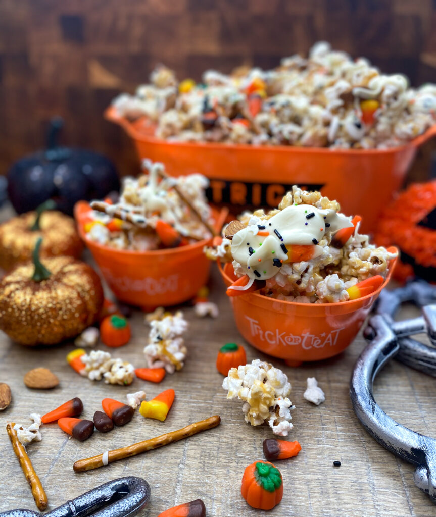 Halloween caramel munch popcorn