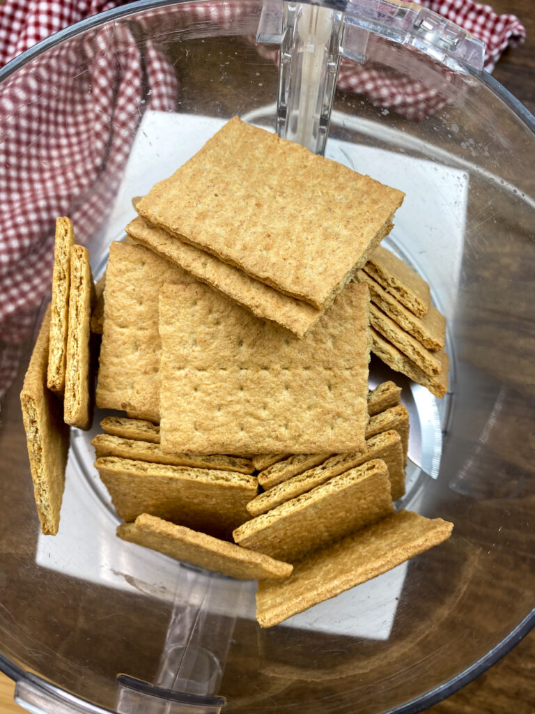 Graham crackers in a Cuisinart.