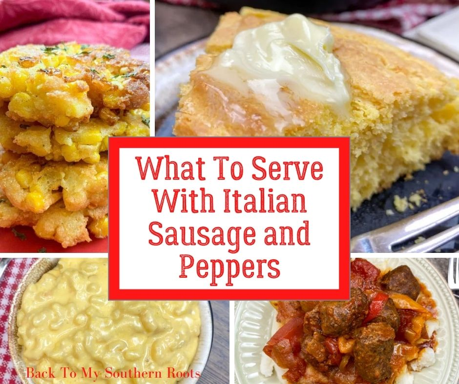 What to serve with Italian sausage and peppers.