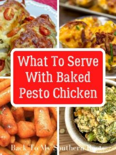 What to serve with baked pesto chicken
