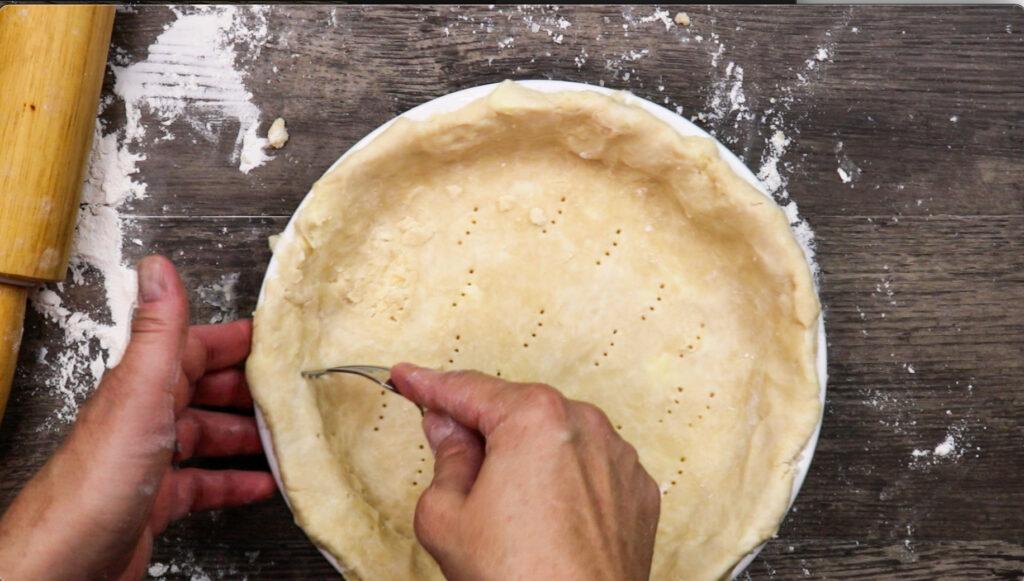 Poking holes in pie crust