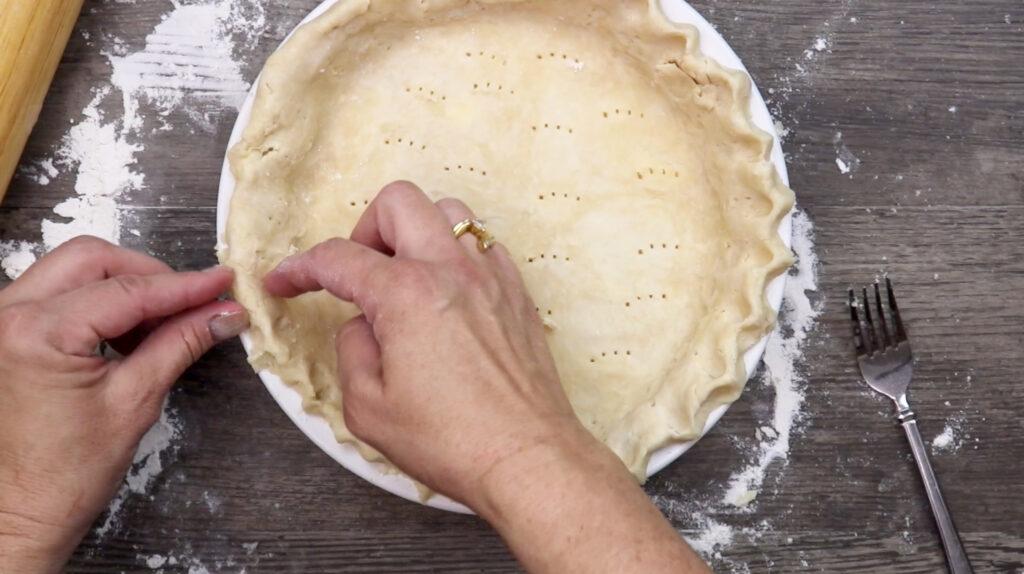 Making a pie crust from scratch
