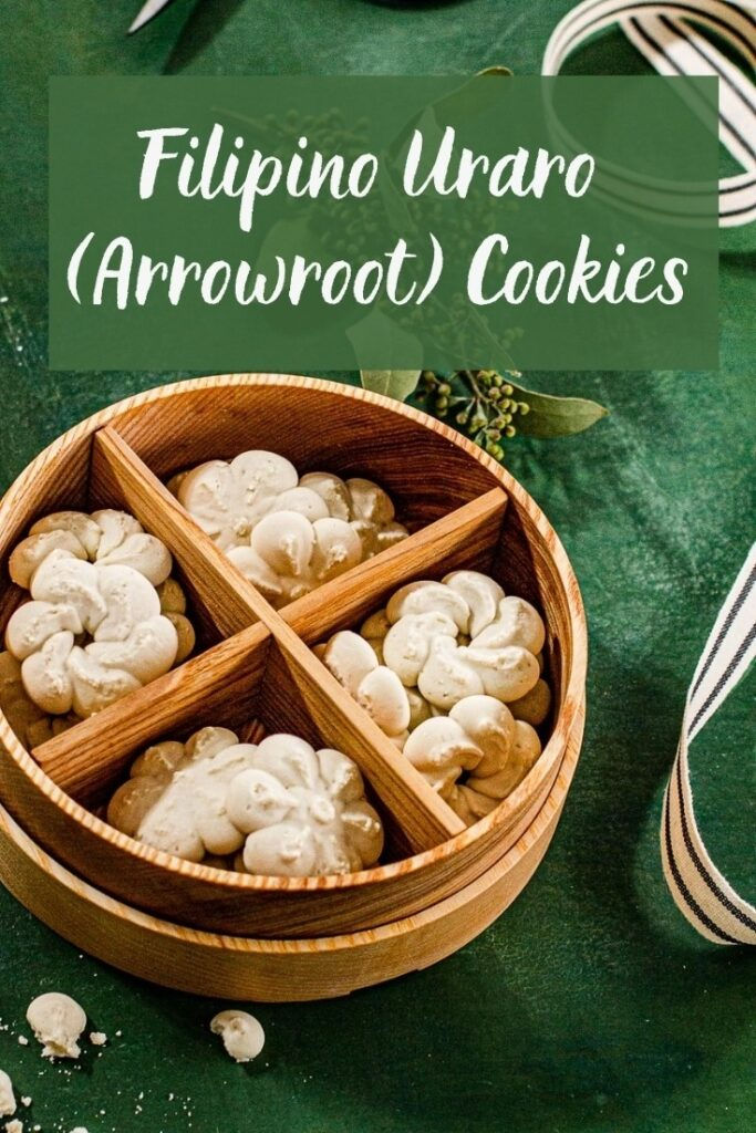 Arrowroot cookies in a container.